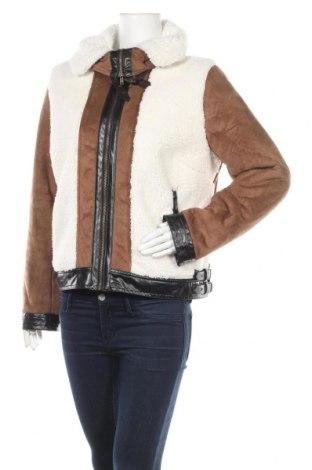 Γυναικείο παλτό Rainbow, Μέγεθος XL, Χρώμα Καφέ, Πολυεστέρας, δερματίνη, Τιμή 37,67€