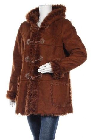 Γυναικείο παλτό Rick Cardona, Μέγεθος L, Χρώμα Καφέ, 80% πολυακρυλικό, 20% πολυεστέρας, Τιμή 19,96€