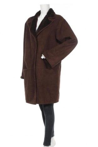 Γυναικείο παλτό Sallie Sahne, Μέγεθος XL, Χρώμα Καφέ, 60% πολυεστέρας, 40% μοντάλ, Τιμή 53,78€