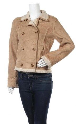 Дамско палто Talbots, Размер S, Цвят Бежов, 86% полиестер, 14% акрил, Цена 53,87лв.