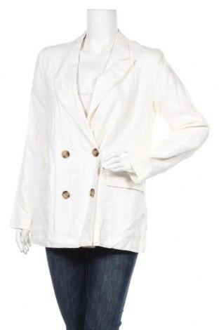 Дамско палто Target, Размер L, Цвят Бял, Лен, Цена 31,92лв.