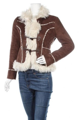 Дамско палто Terranova, Размер S, Цвят Кафяв, Полиестер, Цена 11,03лв.