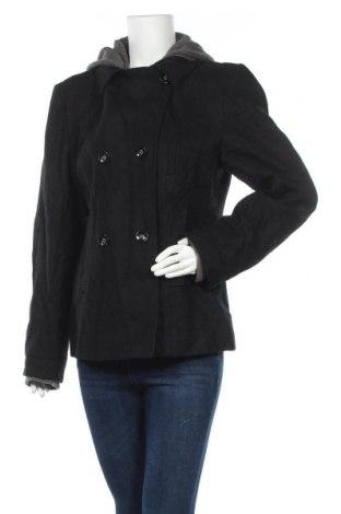 Γυναικείο παλτό Timezone, Μέγεθος XL, Χρώμα Μαύρο, 50% μαλλί, 50% πολυεστέρας, Τιμή 11,50€