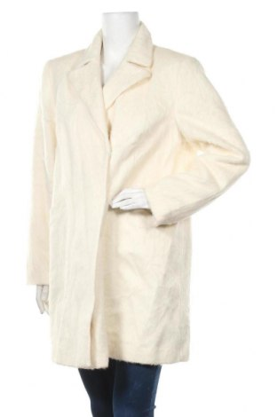 Дамско палто Topshop, Размер XL, Цвят Екрю, 41% полиестер, 24% акрил, 18% вискоза, 10% вълна, 6% памук, 1% полиамид, Цена 58,80лв.