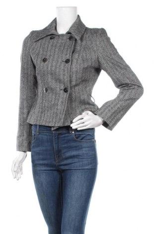 Дамско палто Un Deux Trois, Размер S, Цвят Сив, 53% вълна, 44% полиестер, 1% еластан, 2% полиамид, Цена 45,89лв.