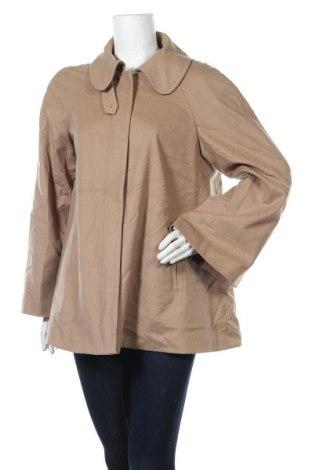Дамско палто Un Deux Trois, Размер L, Цвят Бежов, 75% вълна, 20% полиамид, 5% кашмир, Цена 99,96лв.
