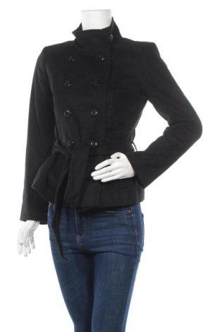 Дамско палто Un Deux Trois, Размер S, Цвят Черен, 70% вълна, 20% полиамид, 10% кашмир, Цена 66,15лв.