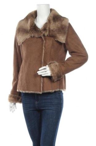 Дамско палто Un Deux Trois, Размер L, Цвят Кафяв, Полиестер, Цена 93,77лв.