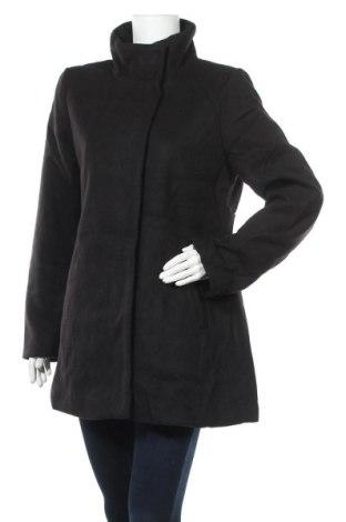 Дамско палто, Размер M, Цвят Черен, 96% полиестер, 3% вискоза, 3% еластан, Цена 23,52лв.