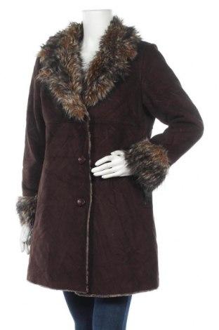 Дамско палто Utex Design, Размер M, Цвят Кафяв, 75% модал, 25% полиестер, Цена 31,50лв.