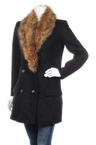 Дамско палто Vero Moda, Размер S, Цвят Черен, 54% вълна, 35% полиестер, 5% акрил, 4% вискоза, 2% полиамид, Цена 50,72лв.