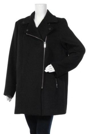 Дамско палто Violeta by Mango, Размер L, Цвят Черен, 76% полиестер, 24% вълна, Цена 49,14лв.