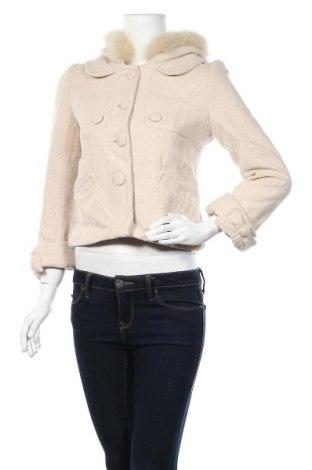 Дамско палто Willselection, Размер S, Цвят Бежов, Естествен косъм, текстил, Цена 24,36лв.