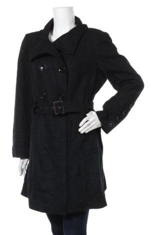 Дамско палто Worthington, Размер L, Цвят Черен, 61% вълна, 21% вискоза, 18% полиестер, Цена 17,64лв.