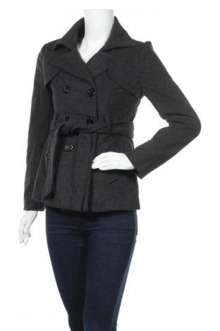 Дамско палто Xxi, Размер M, Цвят Сив, 90% полиестер, 10% вълна, Цена 11,55лв.
