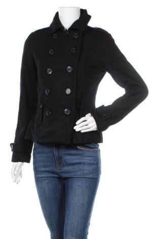 Γυναικείο παλτό Yes Or No, Μέγεθος M, Χρώμα Μαύρο, 60% μαλλί, 25% πολυεστέρας, 15% βισκόζη, Τιμή 31,18€
