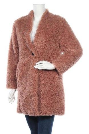 Γυναικείο παλτό Zara, Μέγεθος XS, Χρώμα Ρόζ , Πολυεστέρας, Τιμή 45,14€