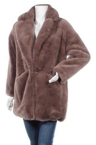 Дамско палто Zara, Размер XS, Цвят Сив, Полиестер, Цена 64,07лв.
