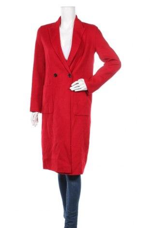 Γυναικείο παλτό Zara, Μέγεθος S, Χρώμα Κόκκινο, 47% μαλλί, 28% πολυεστέρας, 25% βισκόζη, Τιμή 58,13€