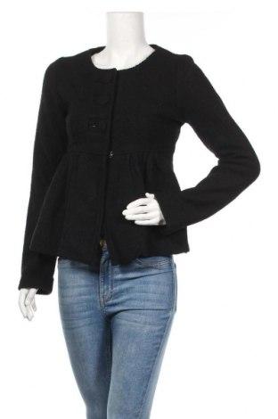 Дамско палто Zara, Размер M, Цвят Черен, 100% вълна, Цена 21,26лв.