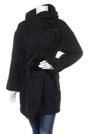 Дамско палто Zara, Размер M, Цвят Черен, Цена 34,13лв.