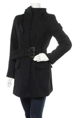 Дамско палто Zara, Размер M, Цвят Черен, 60% вълна, 30% полиестер, 10% вискоза, Цена 27,30лв.