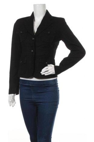 Дамско палто Zara, Размер M, Цвят Черен, 65% вълна, 20% полиестер, 15% вискоза, Цена 12,08лв.