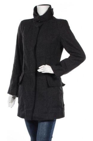 Дамско палто Zara, Размер M, Цвят Сив, Вълна, полиестер, вискоза, Цена 21,53лв.