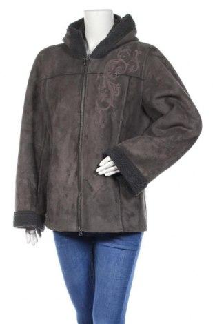 Дамско палто Ze-Ze, Размер XL, Цвят Сив, Цена 29,61лв.