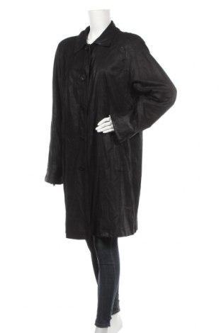 Дамско палто от естествен велур Vittoria Verani, Размер L, Цвят Черен, Естествен велур, Цена 16,19лв.