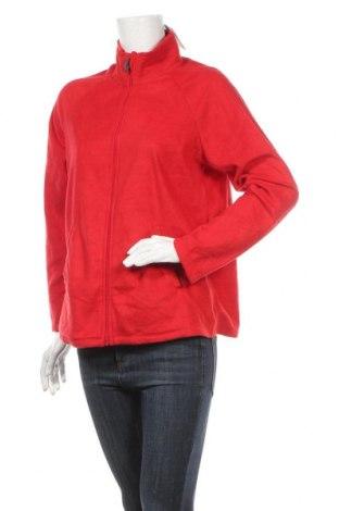 Дамско поларено горнище Carole Hochman, Размер M, Цвят Червен, Полиестер, Цена 27,30лв.