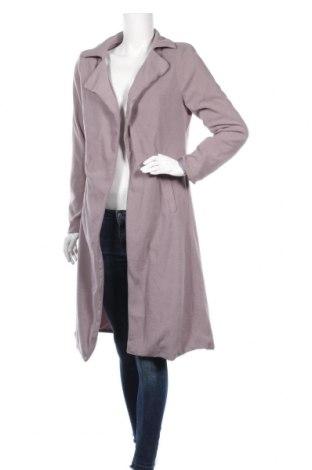 Дамско поларено палто, Размер M, Цвят Сив, 90% полиестер, 10% еластан, Цена 21,95лв.