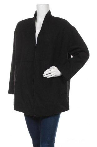 Дамско поларено палто, Размер L, Цвят Черен, 80% полиестер, 18% вискоза, 2% еластан, Цена 11,55лв.