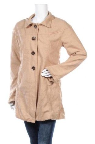 Γυναικείο fleece παλτό. Damart, Μέγεθος M, Χρώμα  Μπέζ, Πολυεστέρας, Τιμή 18,24€