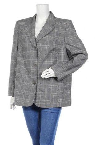 Дамско сако, Размер XL, Цвят Сив, 58% полиестер, 25% вълна, 15% вискоза, 2% еластан, Цена 7,61лв.