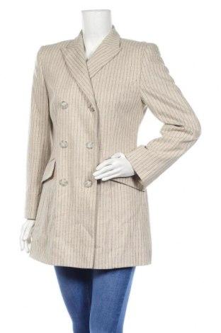 Дамско сако, Размер M, Цвят Бежов, 67% вълна, 30% полиестер, 3% еластан, Цена 22,84лв.