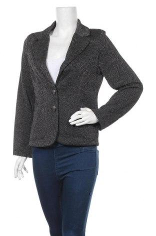 Дамско сако, Размер L, Цвят Черен, 40% памук, 40% еластан, 10% вискоза, 10% полиестер, Цена 13,02лв.