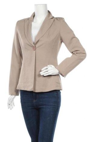 Дамско сако, Размер M, Цвят Бежов, Полиестер, еластан, Цена 6,30лв.