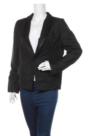 Дамско сако, Размер M, Цвят Черен, 65% вискоза, 35% полиестер, Цена 5,51лв.