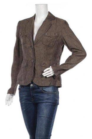 Дамско сако Amy Vermont, Размер M, Цвят Бежов, Лен, Цена 33,92лв.