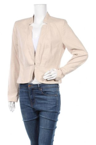 Γυναικείο σακάκι Bon'a Parte, Μέγεθος L, Χρώμα  Μπέζ, Βαμβάκι, Τιμή 12,86€