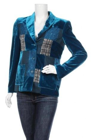 Дамско сако, Размер M, Цвят Син, 95% полиестер, 5% еластан, Цена 18,43лв.