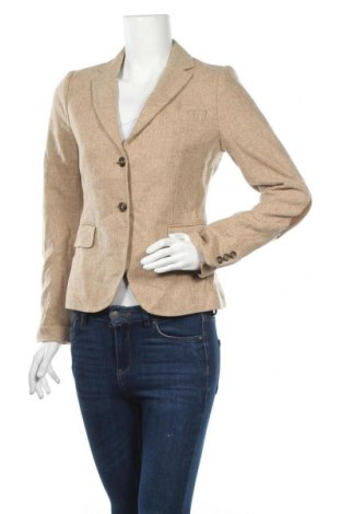 Γυναικείο σακάκι Gant, Μέγεθος S, Χρώμα  Μπέζ, Μαλλί, Τιμή 34,55€