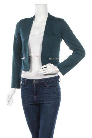 Дамско сако H&M Divided, Размер S, Цвят Син, 74% полиестер, 22% вискоза, 4% еластан, Цена 19,85лв.