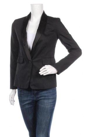 Дамско сако Lucca Couture, Размер XS, Цвят Черен, 97% памук, 3% еластан, Цена 6,56лв.