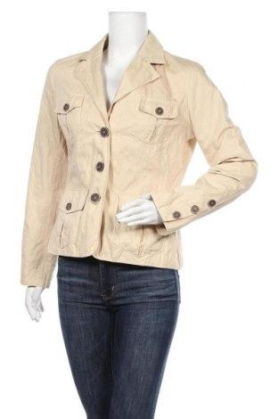 Дамско сако Michele Boyard, Размер M, Цвят Бежов, 95% памук, 5% еластан, Цена 5,51лв.