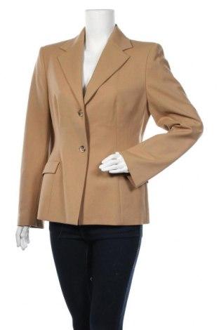 Γυναικείο σακάκι Piazza Sempione, Μέγεθος L, Χρώμα  Μπέζ, 96% μαλλί, 4% ελαστάνη, Τιμή 51,31€