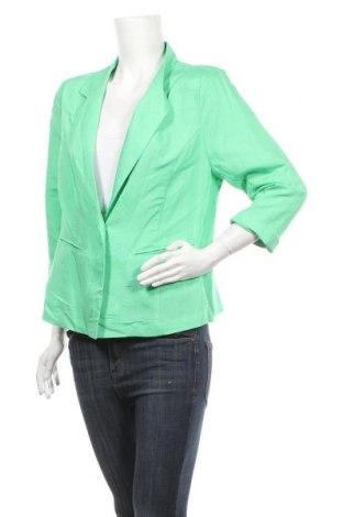 Дамско сако Suzanne Grae, Размер M, Цвят Зелен, Лен, вискоза, Цена 24,99лв.