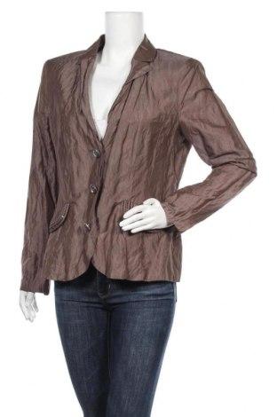 Γυναικείο σακάκι Vera Mont, Μέγεθος L, Χρώμα Καφέ, 52% πολυεστέρας, 33% μετάξι, 15% μεταλλικά νήματα, Τιμή 10,46€