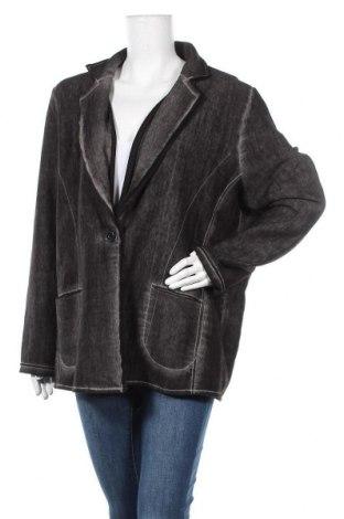 Γυναικείο σακάκι Via Appia, Μέγεθος XXL, Χρώμα Γκρί, 80% πολυεστέρας, 20% βαμβάκι, Τιμή 13,64€